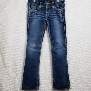 Silver Jeans Med. Wash Slim Bootcut Jeans 32